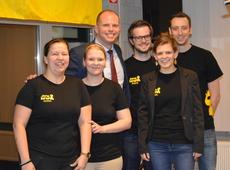 Theo Francken met N-VA jongeren